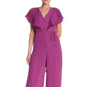 free press Pants - Free Press | Purple Pleated Tie Back Jumpsuit NWT